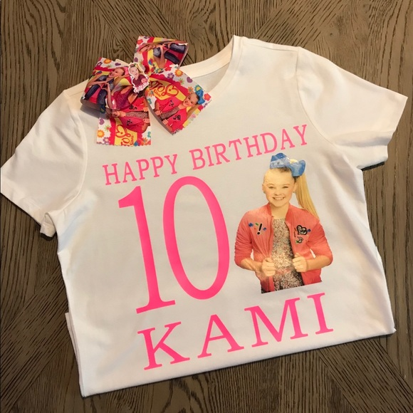 Jojo Siwa Personalized Birthday Shirt